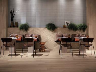 Indoor/outdoor wall/floor tiles with wood effect NEST