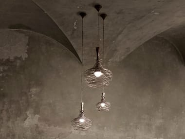 Iron pendant lamp NEST MIDI