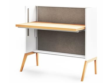 Height-adjustable writing desk NEST