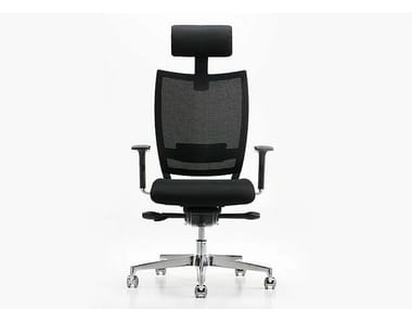 Executive chair with 5-spoke base with armrests NEST | Executive chair with headrest