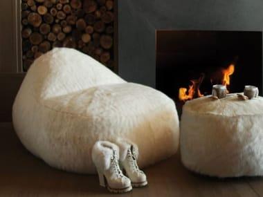 Upholstered bean bag NEST | Armchair