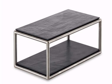 Rectangular quartz garden side table NEST | Quartz coffee table