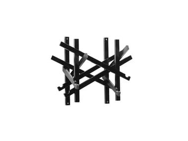 Wall-mounted wooden coat rack NEST | Wall-mounted coat rack