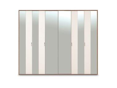 Mirrored wooden wardrobe NETHA | Mirrored wardrobe