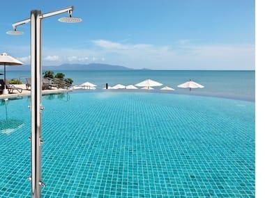 Stainless steel outdoor shower / Swimming pool shower NETTUNO