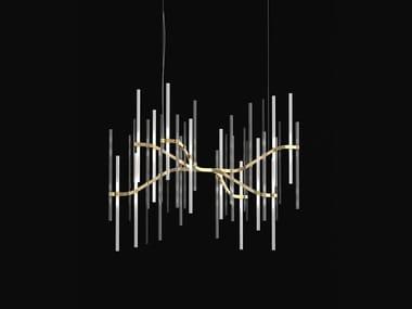 Lampada a sospensione in metallo e vetro NEVA | Lampada a sospensione
