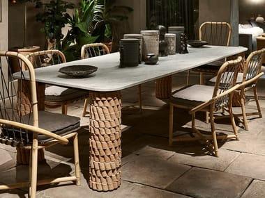 Rectangular marble table NEVADA