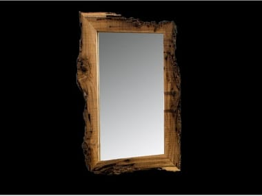 Rectangular framed wooden mirror NEW AGE