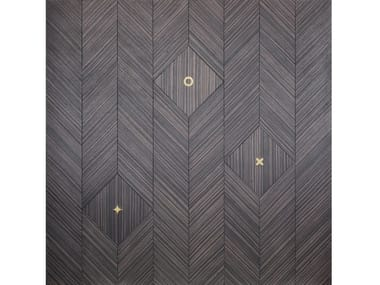 Reassembled wood and brass wall tiles NEW FLORENCE