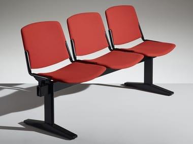 Freestanding wooden beam seating NEW MODULAMM | Beam seating