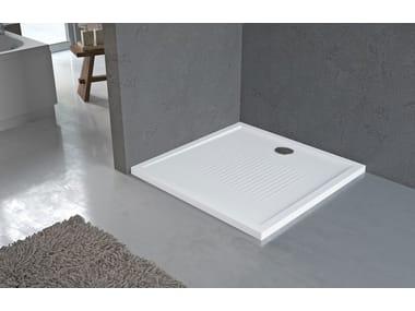 Piatto doccia angolare antiscivolo quadrato in acrilico NEW OLYMPIC