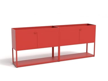 Armoire de bureau en aluminium avec portes à battant NEW ORDER COMB. 203