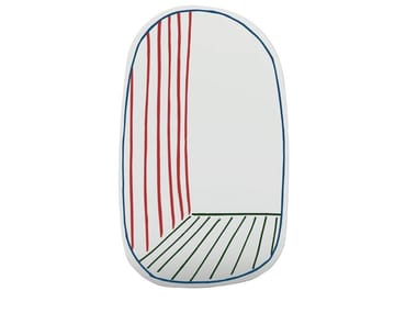 Oval wall-mounted mirror NEW PERSPECTIVE MIRROR