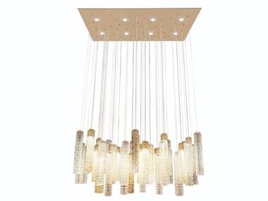 LED direct light glass pendant lamp NEW PIPE