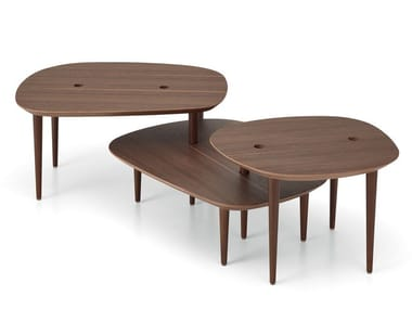 Low walnut coffee table for living room NEW SONG