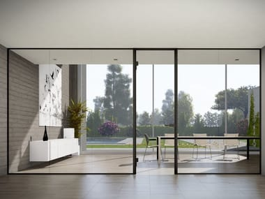 Profile for glass partitions and glass door frame NEW STRIQE P35E