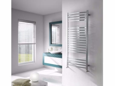 Chrome vertical wall-mounted towel warmer NEW WAVE