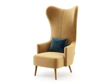 High-back fabric armchair NEW YORK | Armchair