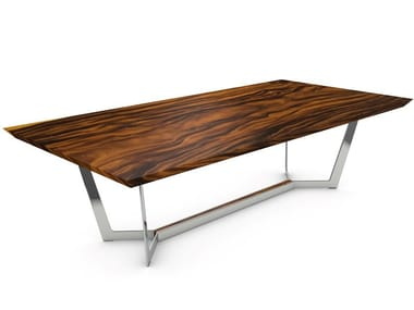 Table with Suar wood top and steel frame NEW YORK