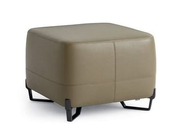 Pouf quadrato in pelle NEW YORK | Pouf in pelle