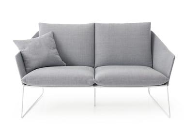 2 seater fabric garden sofa with removable cover NEW YORK OUTDOOR | Garden sofa