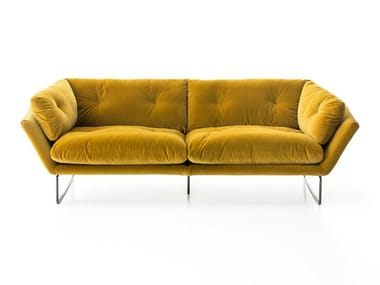 Sled base 3 seater fabric sofa NEW YORK SUITE | Sofa