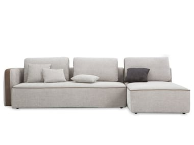 Fabric sofa with chaise longue NEWCASTLE