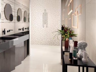 Porcelain stoneware wall/floor tiles with marble effect NEWLUXE WHITE