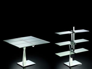 Crystal bookcase / table NEWTON
