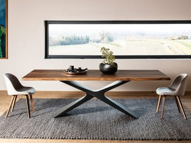 Rectangular solid wood table NEXUS | Rectangular table