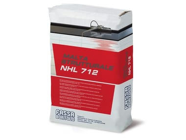 Bio-malta fibrorinforzata ad alte prestazioni meccaniche MALTA STRUTTURALE NHL 712