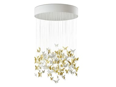 Lampada da soffitto in porcellana NIAGARA GOLDEN LUSTER 135cm