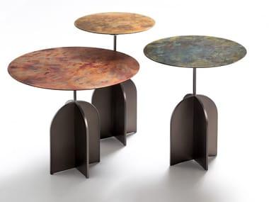 Tavolino rotondo in metallo NICOLA