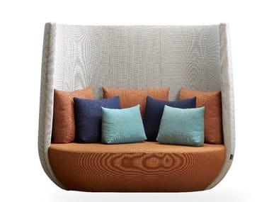 Divano in tessuto a 2 posti con schienale alto NIDO | Divano con schienale alto