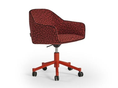 Chair with 5-spoke base with armrests NIDO | Chair with castors