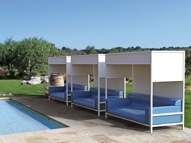Canopy aluminium and PVC garden sofa NIDO