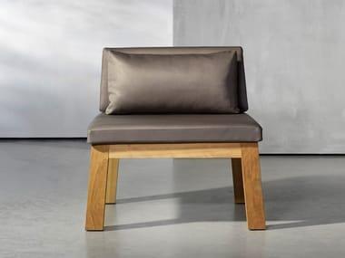 Sedia da giardino in legno NIEK | Sedia
