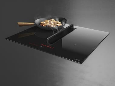 Induction glass hob with integrated hood Class A NIKOLATESLA FIT