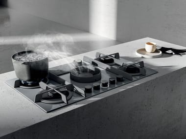 Gas hob with integrated hood NIKOLATESLA FLAME
