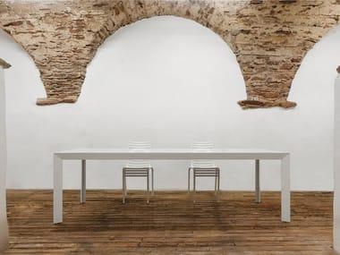 Rectangular glass contract table NILE