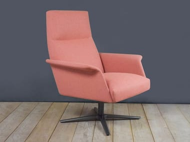 Armchair with 4-spoke base with armrests NILSON LOUNGE