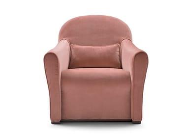 Fabric armchair with armrests NINA