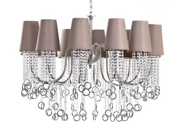 Direct-indirect light chandelier with crystals NINA | Chandelier