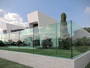 Modular glass Fence NINFA-R