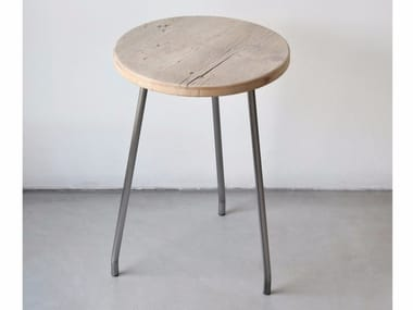 Low reclaimed wood stool NINO | Reclaimed wood stool
