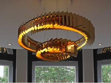 LED chandelier NIVALA DOUBLE