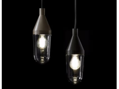 Glass and aluminium pendant lamp NIWA - 1180
