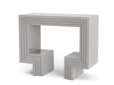 Consolle / mobile bar in pietra artificiale NIX