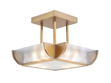 Handmade brass ceiling lamp NIZZA CHANDELIER II