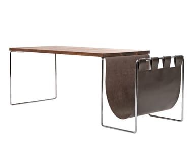 Rectangular coffee table with integrated magazine rack NL   Rectangular coffee table